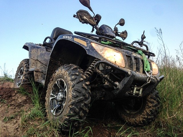 Image of an ATV, representing the need for WV trail riders to know UTV and ATV laws in WV and how Logan County attorney Jason Harwood can help when people are injured while riding.