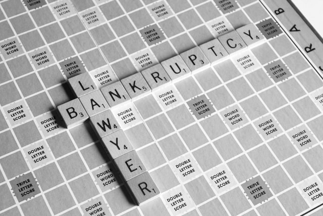 """Image of a game board with the words """"lawyer"""" and bankruptcy,"""" representing the need for a skilled WV bankruptcy attorney like Jason Harwood when you are considering filing bankruptcy in southern WV."""