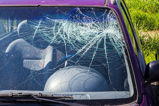 An image of a car with a shattered windshield, representing the damages sustained in auto accidents and the need to contact a car accident lawyer in Logan, WV.