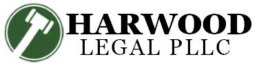 Image of gavel favicon and Harwood Legal logo, representing where clients can find an experienced compassionate attorney.